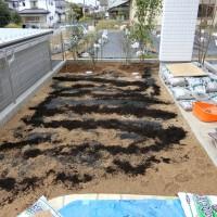 芝生の張り方 宿根ガーデン